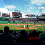 Behind Home Plate At Fenway Art Print
