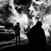 Behind The Smoke Art Print