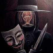 Behind This Mask Art Print