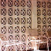 Beige Chairs Palm Springs Art Print