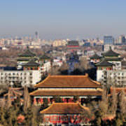 Beijing Central Axis Skyline, China Art Print