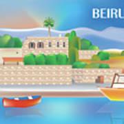 Beirut Lebanon Horizontal Scene Art Print