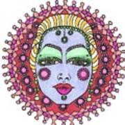 Bejeweled Blond Art Print