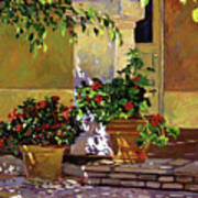 Bel-air Patio Steps Print by David Lloyd Glover
