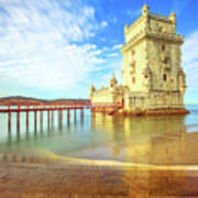 Belem Tower Reflects Art Print