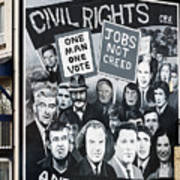 Belfast Mural - Civil Rights - Ireland Art Print