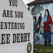 Belfast Mural - Free Derry - Ireland Art Print