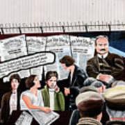 Belfast Mural - Headlines - Ireland Art Print