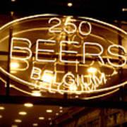 Belgian Beer Sign Art Print