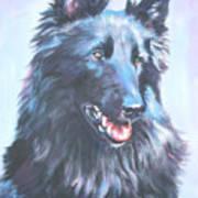 Belgian Sheepdog Portrait Art Print