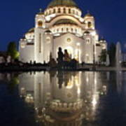 Belgrade Serbia Orthodox Cathedral Of Saint Sava  Art Print