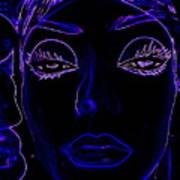 Belinda In Blue Art Print
