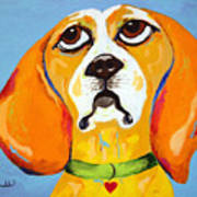 Belinda The Beagle Art Print