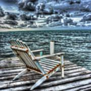 Belize Beach Chair #2 Art Print