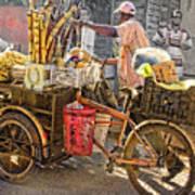 Belize Vendor With Bike Art Print
