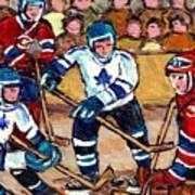 Bell Center Hockey Art Goalie Carey Price Makes A Save Original 6 Teams Habs Vs Leafs Carole Spandau Art Print