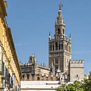 Bell Tower - Cathedral Of Seville - Seville Spain Art Print