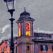 Bell Tower Of Rome Art Print