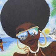 Bella En Miami - Blm Art Print
