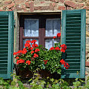 Bella Italian Window  Art Print
