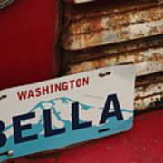 Bella License Plate Art Print