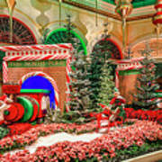 Bellagio Christmas Train Decorations Angled 2017 2 To 1 Aspect Ratio Art Print