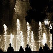 Bellagio Fountain At Night Art Print