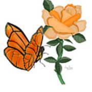 Belle And Flower Art Print