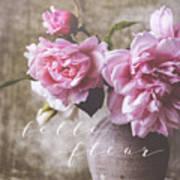 Belle Fleur Pink Peonies Art Print