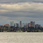 Bellevue Skyline Along Lake Washington Art Print