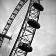 Below London's Eye Bw Print by Kamil Swiatek