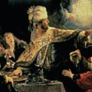 Belshazzars Feast Art Print by Rembrandt