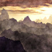 Belzoni Mountain Range Art Print