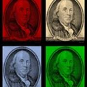 Ben Franklin In Colors Art Print