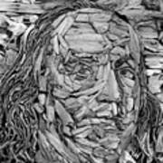 Ben In Wood B W Art Print