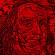 Ben In Wood Red Art Print