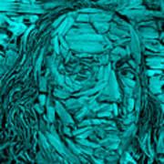 Ben In Wood Turquoise Art Print