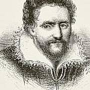 Ben Jonson 1572 To 1637. English Art Print