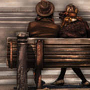 Bench - A Couple Out Of Time Art Print