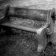 Bench By The Barn Art Print