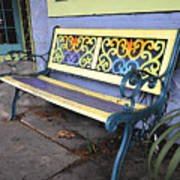Bench Of Color Art Print