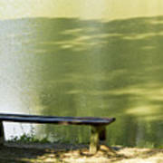 Bench On A Lake Art Print