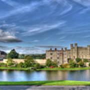 Bench View Of Leeds Castle Art Print