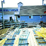 Benches On Boothbay Art Print