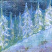 Bend Snow Trees Art Print