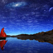 Beneath A Jewelled Sky Art Print