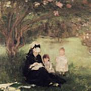 Beneath The Lilac At Maurecourt Art Print