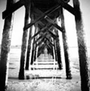 Beneath The Pier Art Print