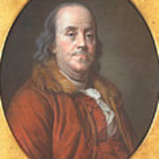 Benjamin Franklin Art Print by Jean Valade