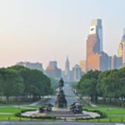 Benjamin Franklin Parkway - Philly Art Print